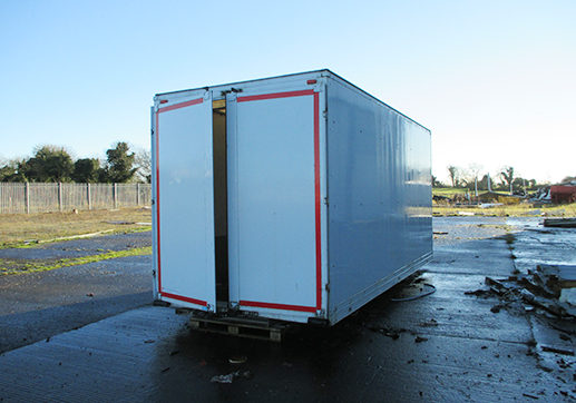 17' x 8' x 8' GRP body 2 rear doors as new