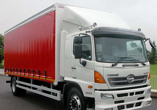 Hino 500 top and rear of cab