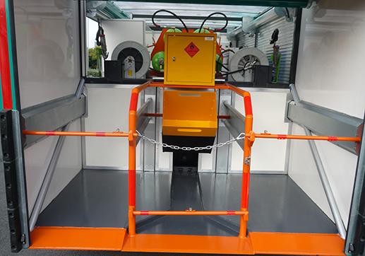 Landing wheel compartment